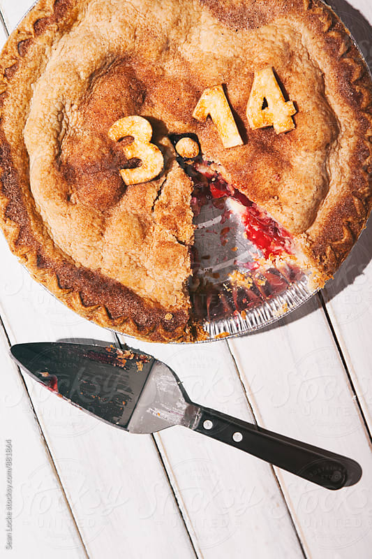 Pi: Piece Missing From Pi Day Cherry Pie by Sean Locke for Stocksy United