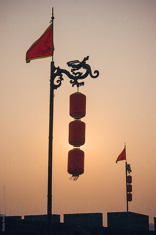 Red Lanterns in China by Shelly Perry for Stocksy United