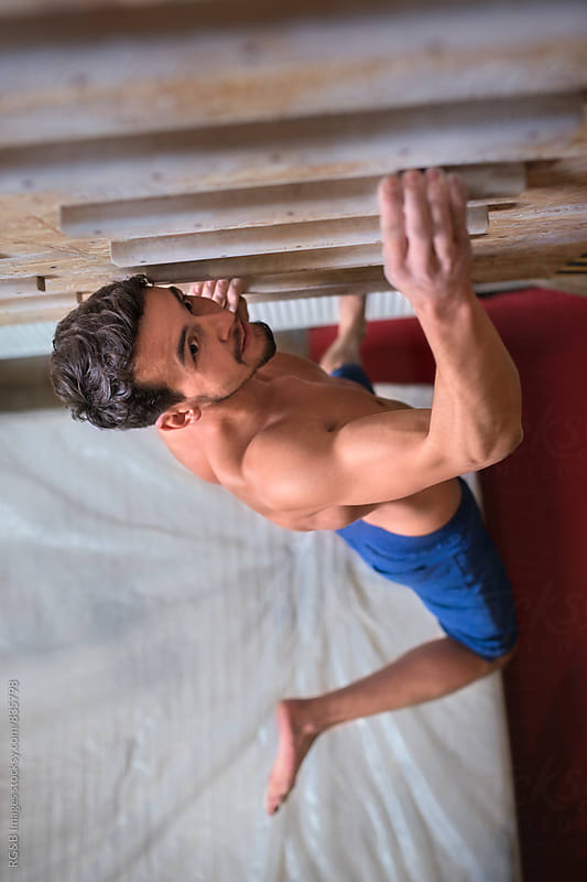 Finger strength training for rock climbing by RG&B Images for Stocksy United