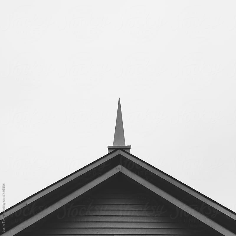 Church Steeple In Monochrome by Leslie Taylor for Stocksy United