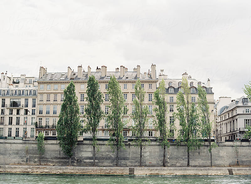 Pairs Riverfront on the Seine by Vicki Grafton Photography for Stocksy United