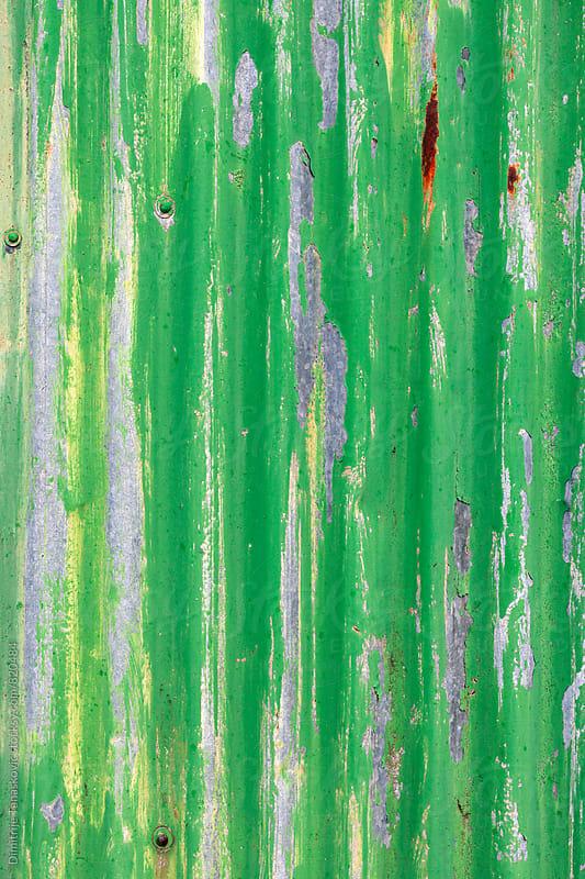 Green metal background by Dimitrije Tanaskovic for Stocksy United