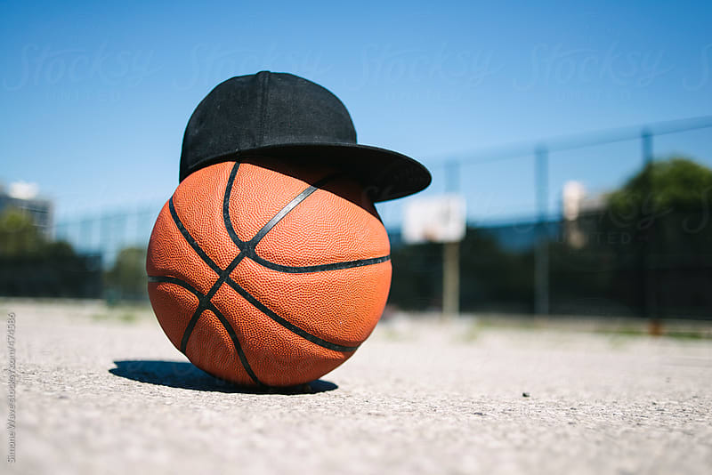Basketball with a cap by GIC for Stocksy United