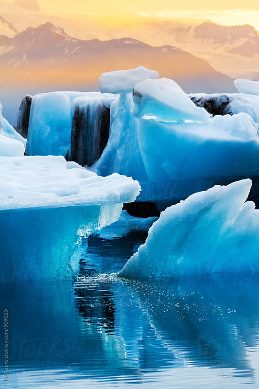 Icebergs in the Lagoon by Joe Azure for Stocksy United