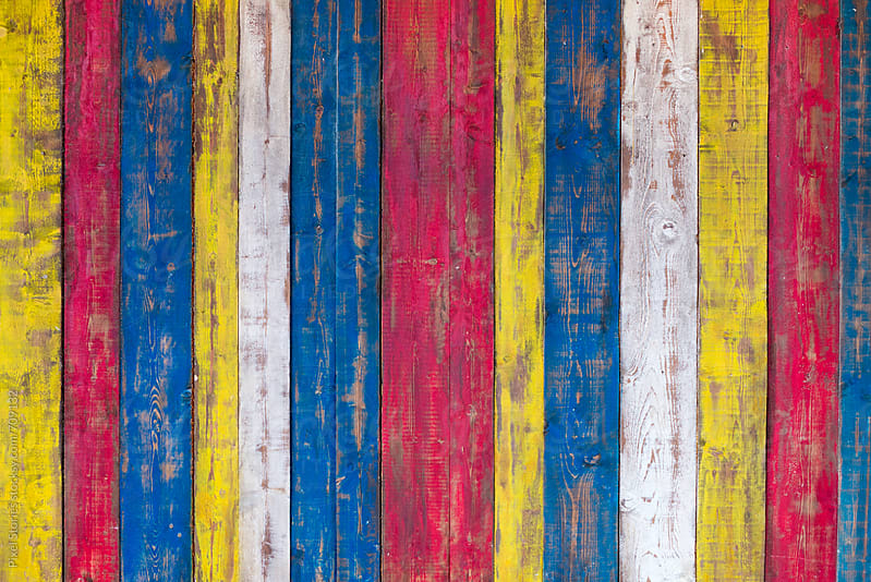 Colorful wooden background by Pixel Stories for Stocksy United