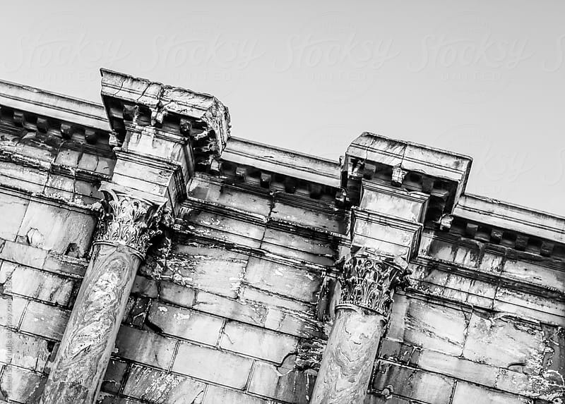Corinthian columns in Athens Greece by Helen Sotiriadis for Stocksy United