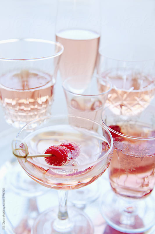 Vintage party champagne glasses  by Jill Chen for Stocksy United