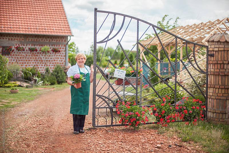 Smiling Gardener by Lumina for Stocksy United