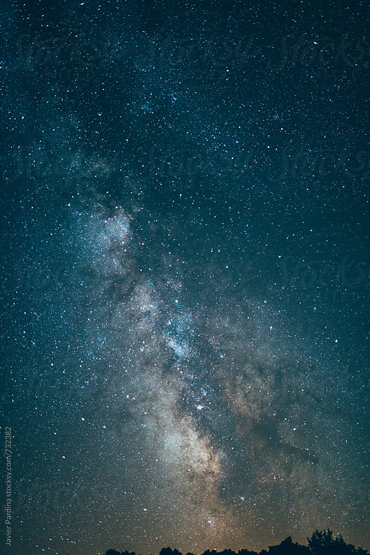 Milky way on the sky by Javier Pardina for Stocksy United