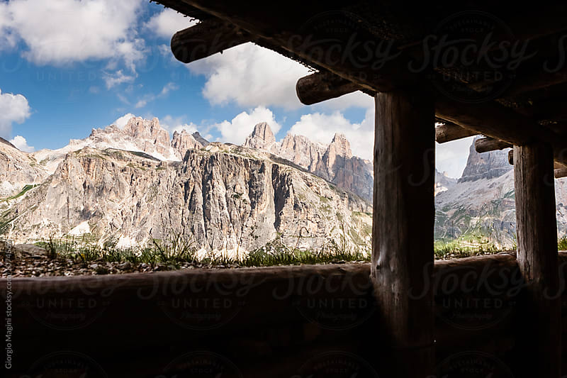 Trenches of World War I on Dolomites Mountains, Italian Alps by Giorgio Magini for Stocksy United