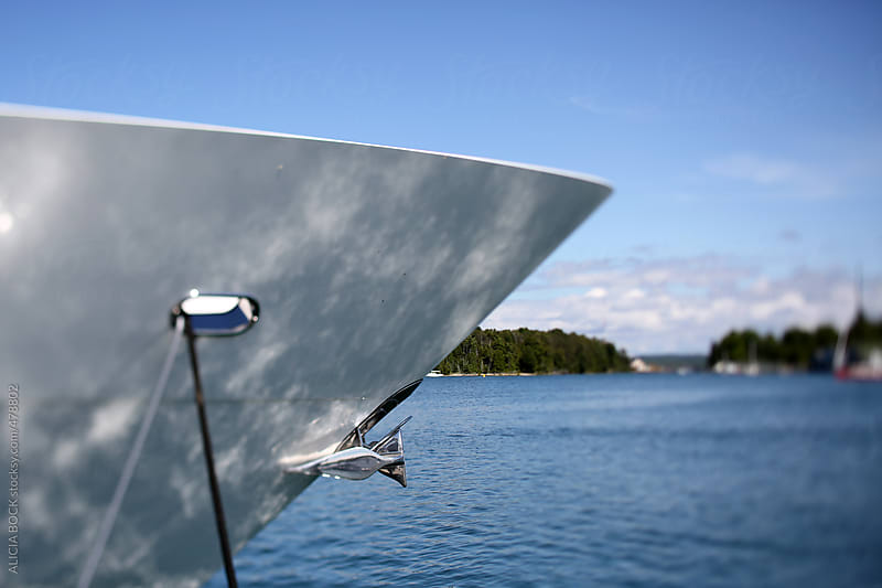 The Bow Of A Yacht On Clear Summer Day by ALICIA BOCK for Stocksy United