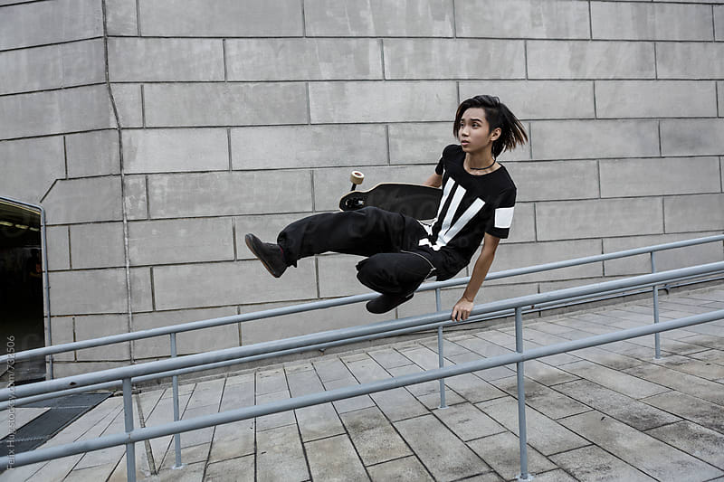Parkour artist by Felix Hug for Stocksy United