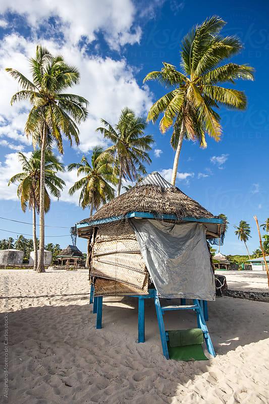 Beach Hut on tropical island by Alejandro Moreno de Carlos for Stocksy United