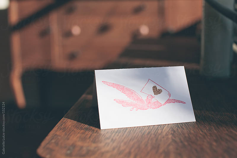 Handmade Valentine's Day Card by Gabrielle Lutze for Stocksy United