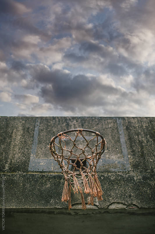 Rusty Basketball Rim by Victor Torres for Stocksy United