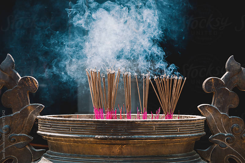 Incense sticks by Sam Burton for Stocksy United