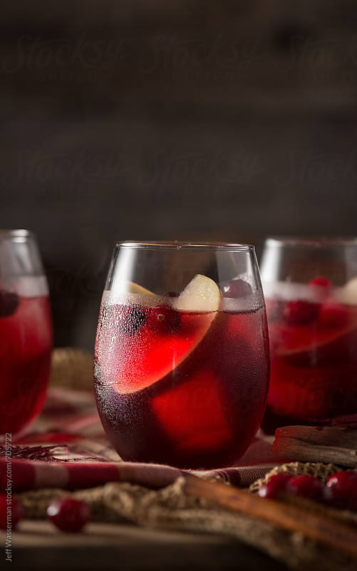 Apple Cranberry Cocktails by Studio Six for Stocksy United