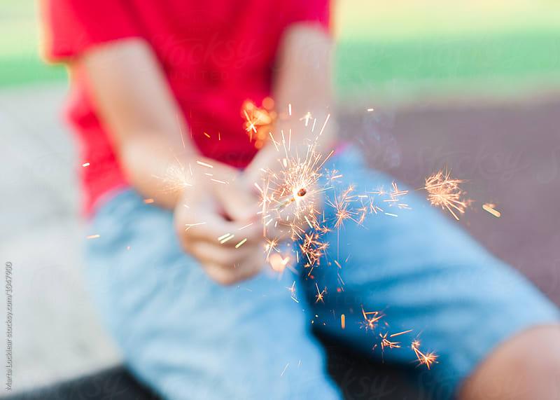 Boy Celebrating a Patriotic Holiday by Marta Locklear for Stocksy United