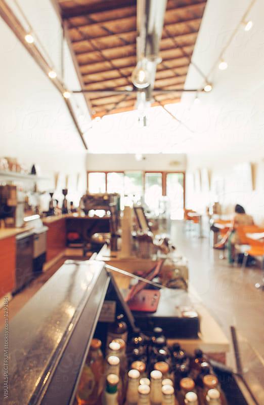 Hip Coffee Shop Defocused by VISUALSPECTRUM for Stocksy United