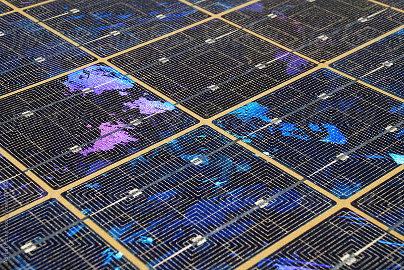 Closeup of a Solar Panel by Adrian P Young for Stocksy United