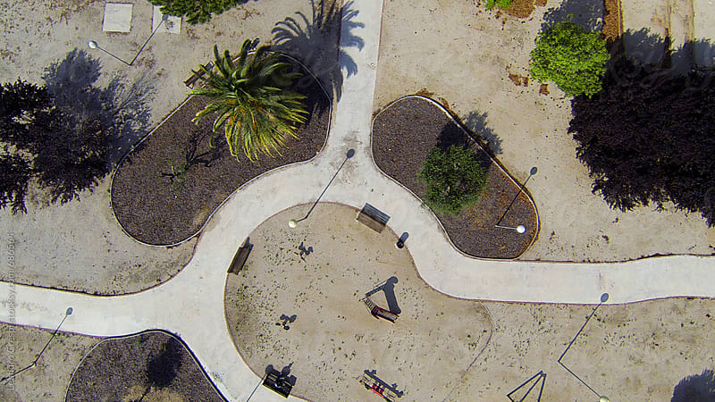 Aerial view of playground by Leandro Crespi for Stocksy United