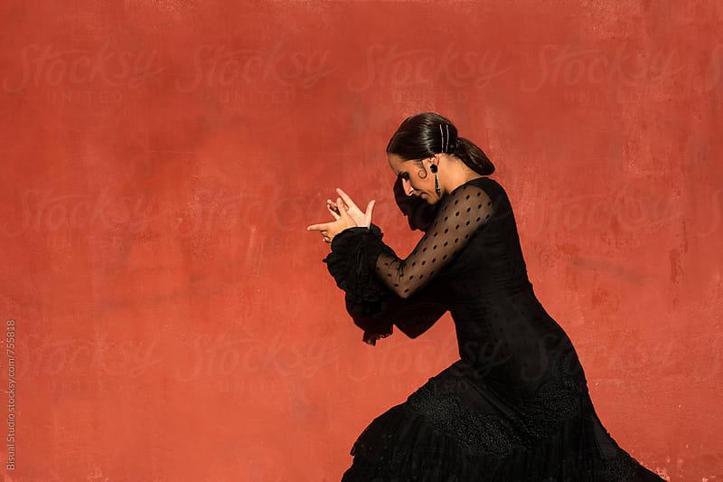 Professional flamenco dancer, Granada by Bisual Studio for Stocksy United