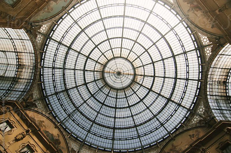 Dome at shopping center Galleria Vittorio Emanuele II - Milan, Italy, Europe by Robert Kohlhuber for Stocksy United