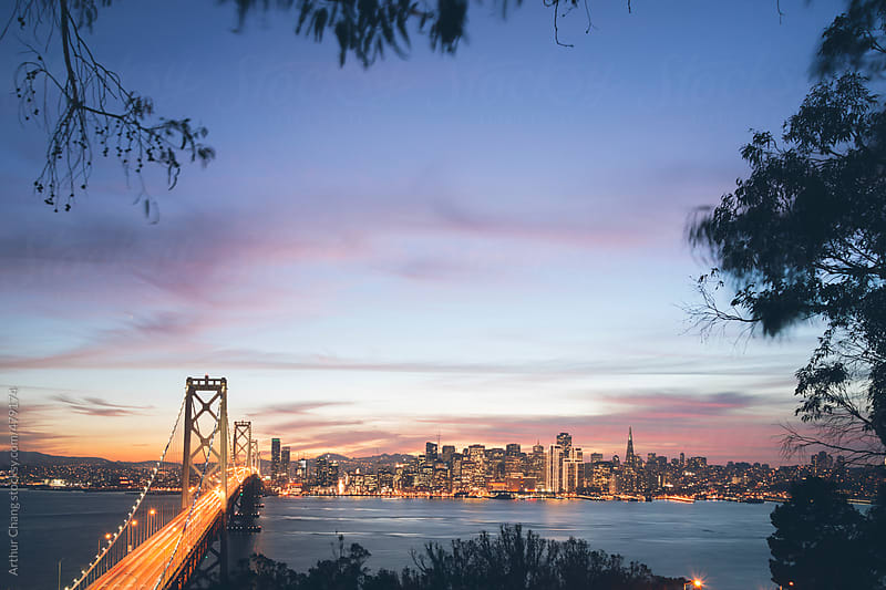 San Francisco dusk by Arthur Chang for Stocksy United