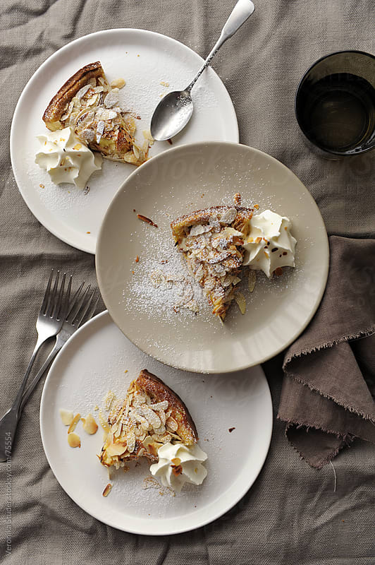 Pie on plate by Veronika Studer for Stocksy United