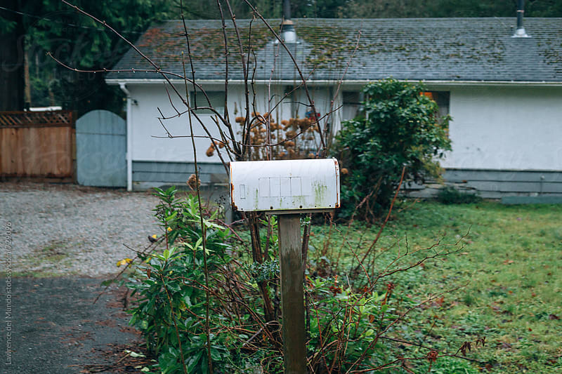 Old fashioned mailbox waiting for the mail by Lawrence del Mundo for Stocksy United