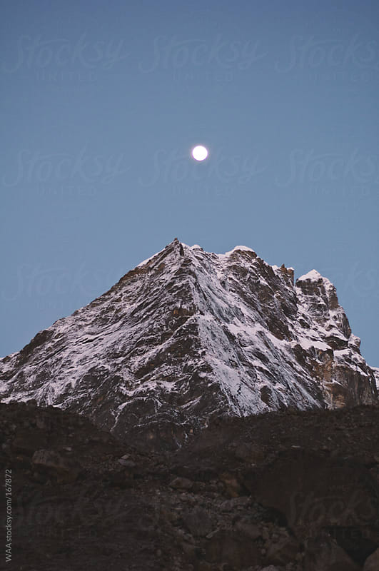 Full Moon Over Himalayas by WAA for Stocksy United