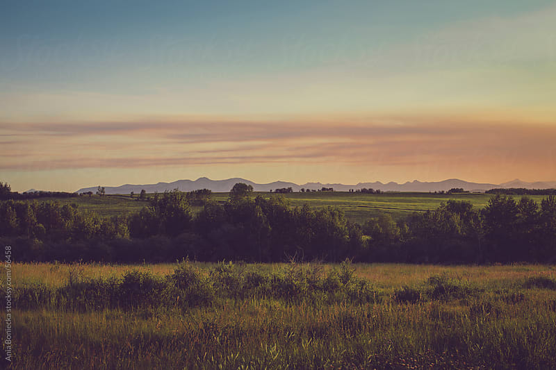 Canadian prairie sunset by Ania Boniecka for Stocksy United