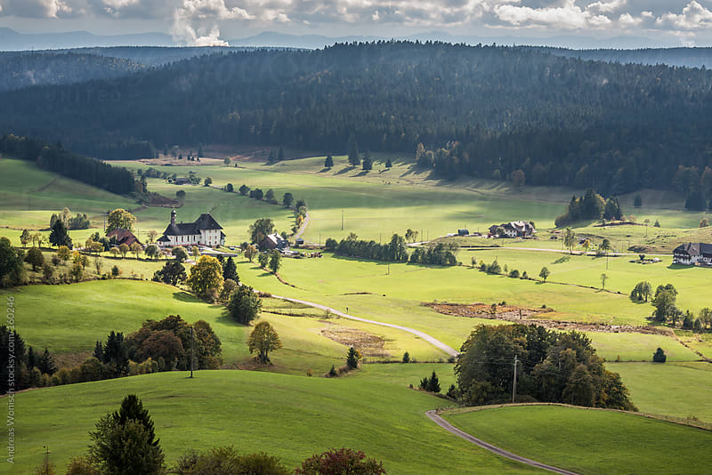Rural Scenery in the German Black Forest by Andreas Wonisch for Stocksy United