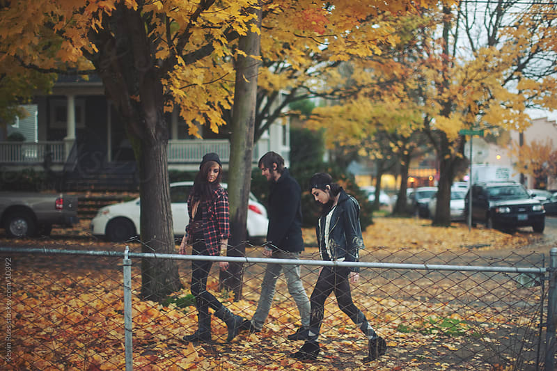 Portland Fall Walkers by Kevin Russ for Stocksy United