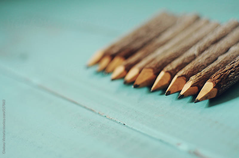 Sharpened pencils by Chelsea Victoria for Stocksy United