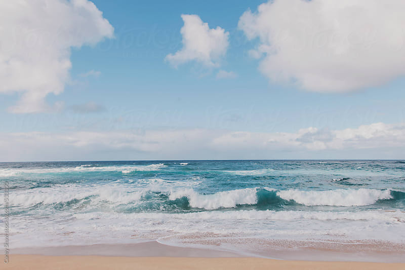 Ocean and waves at Hawaii beach by Carey Shaw for Stocksy United