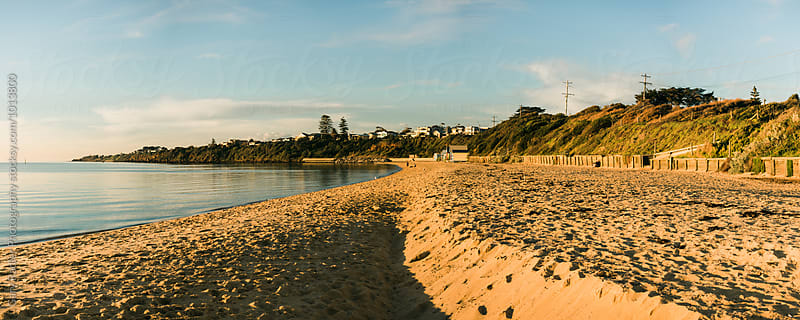 Panorama of Beach at Mornington, Australia by Gary Radler Photography for Stocksy United