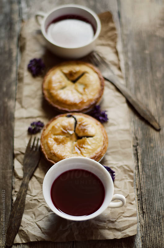 tea and pie by Crissy Mitchell for Stocksy United