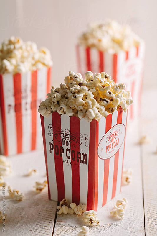 Buckets full of popcorn by Davide Illini for Stocksy United