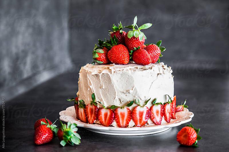 Tasty Birthday Cake by Alie Lengyelova for Stocksy United