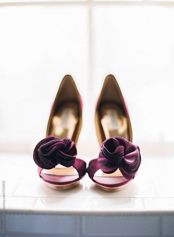 Wine colored heels by Marta Locklear for Stocksy United