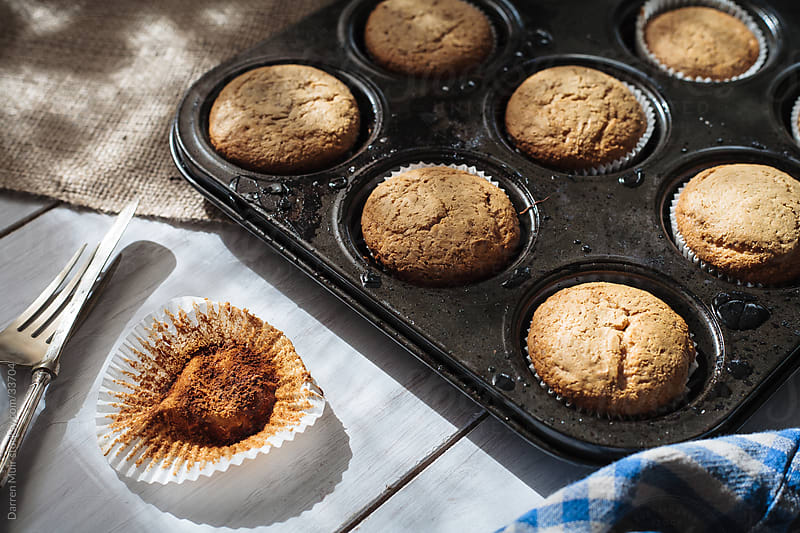 Home baking muffins  by Darren Muir for Stocksy United