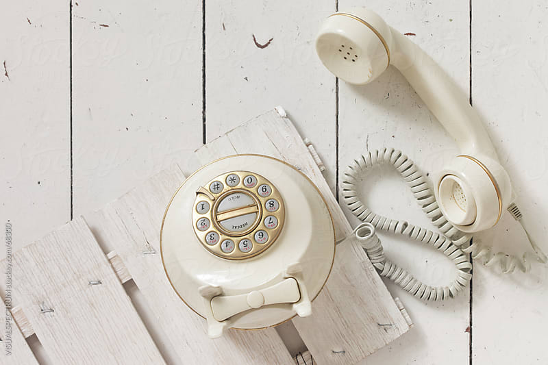 Rotary Dial Telephone by VISUALSPECTRUM for Stocksy United