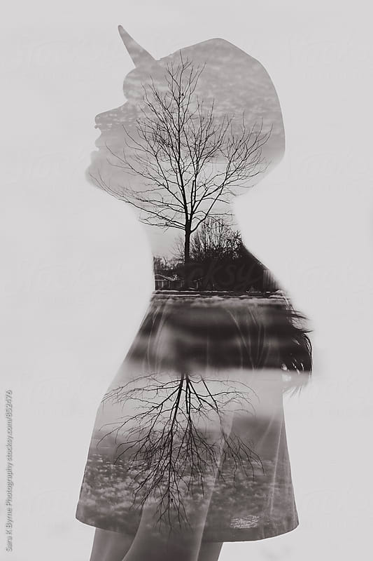 Double Exposure by Sara K Byrne Photography for Stocksy United