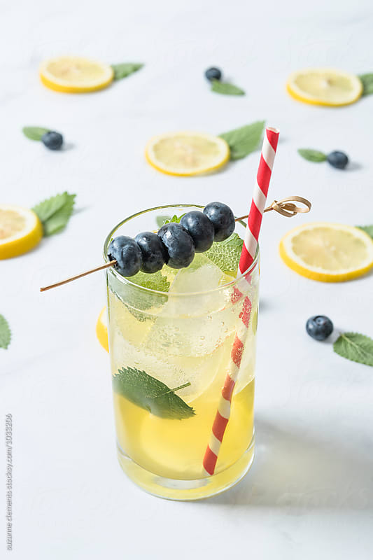 Blueberry Lemon Ginn Fizz Cooler by suzanne clements for Stocksy United