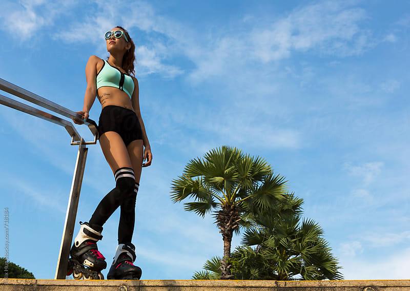 Female Inline Skater by Felix Hug for Stocksy United