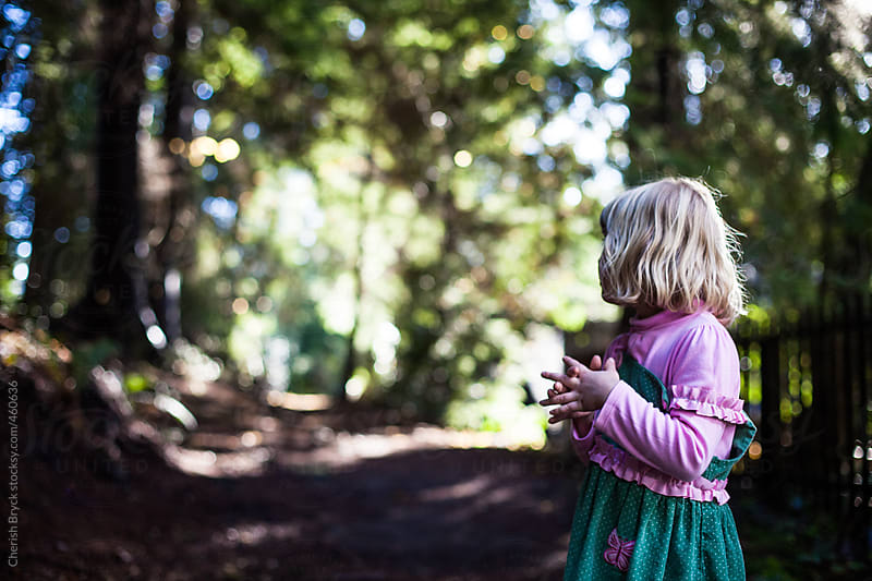 Little Girl in the forest. by Cherish Bryck for Stocksy United