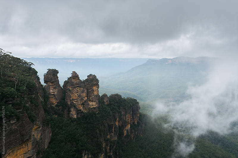 The Three Sisters Katoomba Australia by Robert Lang for Stocksy United