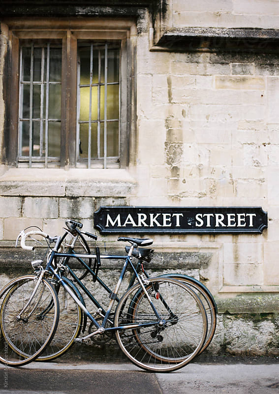 Bicycle in Oxford, England by Kirstin Mckee for Stocksy United