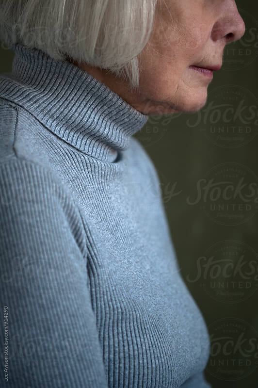portrait of a senior woman 70 - 80 years  by Lee Avison for Stocksy United
